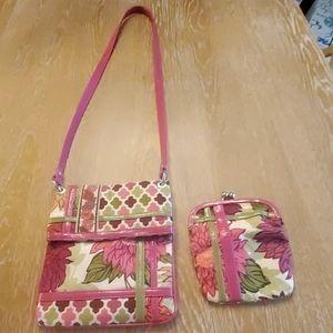 Vera Bradley Crossbody Bag and Wallet